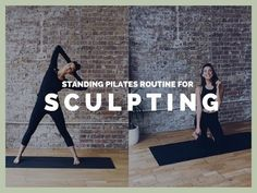 6 minute easy standing sculpting pilates routine by that works abs, legs and balance by Lottie Murphy