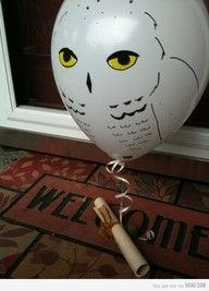 Hmmm... make a Hedwig balloon to attach to Darby's birthday present? :D