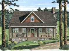 Artist rendering of The Oswego Cottage
