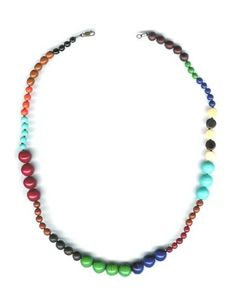 Vintage Glass And Lucite Beads Necklace... very cool!