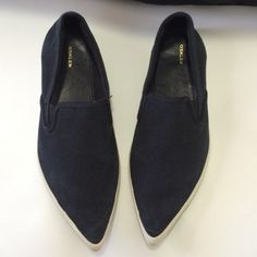 Pointy Slip On These are Osklen Pointy slip ons. The material is canvas. Some spots are a little more faded then others. The sole as a bit of black marks as photographed. They are in pretty good condition. They do not come in a box. Feel free to ask questions. I am open to reasonable offers. Osklen Shoes