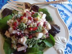 Broccoli Apple Pomegranate Salad  Recipe from Tia Maria's Blog