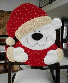 Molde Cubresilla oso navidad