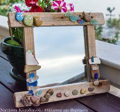 handmade driftwood mirror Driftwood Mirror, Mirrors, Fantasy, Frame, Table, Handmade, Furniture, Ideas, Home Decor
