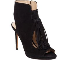 Vince Camuto Womens Abigalla Open Toe BootieBlack KidsuedeUS 5 M -- More info could be found at the image url.(This is an Amazon affiliate link)