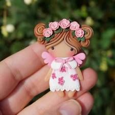 Original Art OOAK Polymer Clay baby doll girl 3 Ella by Yulia Shaver Cute Polymer Clay, Polymer Clay Dolls, Cute Clay, Polymer Clay Crafts, Biscuit, Indian Jewellery Online, Clay Mugs, Clay Baby, Clay Miniatures