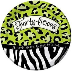 40th Birthday Forty-Licious Luncheon Paper Plates 18cm | Shop online ...