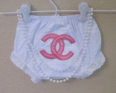 Baby bloomers- Chanel inspired. $16.50, via Etsy.
