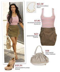 Kim Kardashian style here is great. I'm a big fan of stripes!