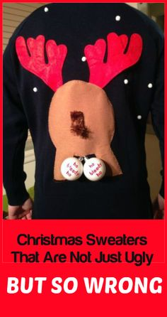 16 Christmas Sweaters That Are Not Just Ugly But Wrong  ... see more at InventorSpot.com