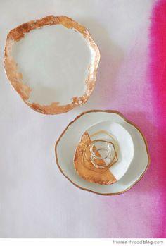 Copper Trim Jewelry Dish