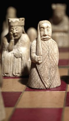 Lewis chessmen, 12th century Norse set. Just look at their expressions... priceless.