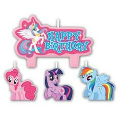 My Little Pony Friendship Mini Candles (4 Pack)