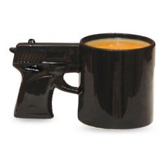 2eadc2b6c16 A pistol shaped ceramic coffee mug. Fun pistol shape for adds excitement to  an beverage. Stop or Ill shoot This gun shaped coffee mug will have you  feeling ...