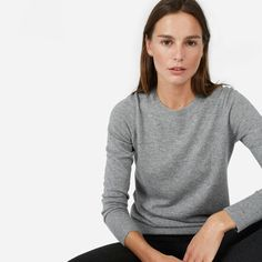 Warm, soft, lightweight, and timeless—this cashmere crewneck is guaranteed to be a favorite.