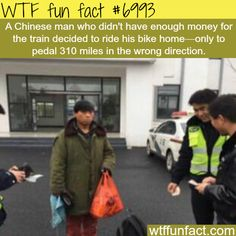 Man rides his bike home, pedals 300 miles the wrong direction - WTF fun fact