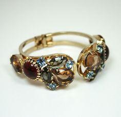 Vintage Bracelet Juliana Rhinestone Clamper