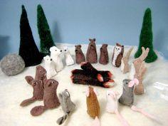 Little Felt Animals Set of 3 You choose by MuddyFeet on Etsy