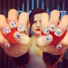 Brenda // has her eyes on the ball  #manicuremonday #nailart #manicuremanic
