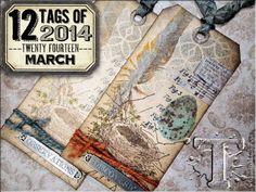 12 Tags of 2014 – March…  By Tim Holtz - Wendy Schultz via Bloglovin  - Tags.