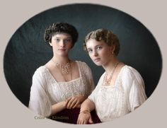 Grand Duchesses Tatiana and Olga Romanov