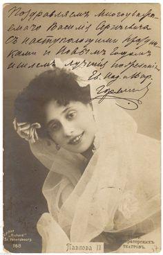 .ORIGINAL POSTCARD RUSSIAN BALLET ANNA PAVLOVA AS FLORA 1906