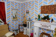 Maľovanie izby - s páskami vyčaríte imitáciu tapety - Dielňa prakticky Workshop, Atelier