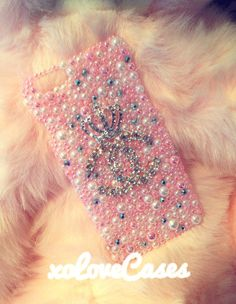 My custom made iPhone case ♡ paytonalexaxo Girly Phone Cases, Iphone 7 Cases, Cell Phone Cases, Cute Cases, Phone Accessories, Smartphone, Princess Diana, Pink, Chanel
