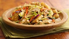 Sesame-Crouton Asian Chicken Salad recipe - from Tablespoon!