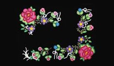 """The Métis were famous for their floral beadwork, and were often called the 'Flower Beadwork People'. The symmetric floral beadwork, often set against a black or dark blue background, was inspired by European floral designs. They used seed beads. Native Beadwork, Native American Beadwork, Beading Patterns, Embroidery Patterns, Beadwork Designs, Bead Sewing, Butterfly Painting, Peyote Beading, Aboriginal Art"