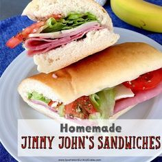 Soup And Sandwich, Sandwich Recipes, Sandwich Board, Sandwich Ideas, Jimmy Johns Bread, Cold Sandwiches, Delicious Sandwiches, Homemade Sandwich, Tandoori Masala