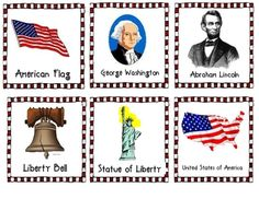 This is a patriotic write the room!  There are word/picture cards that you laminate and posta round the room and have the students find them and wr...