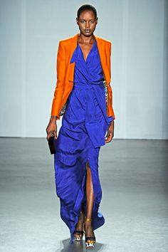 cobalt and orange at Matthew Williamson