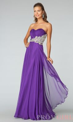 Strapless Evening Gown, JVN by Jovani Long Prom Dresses-