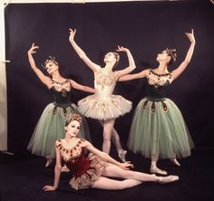 New York City Ballet - Newsweek cover shot of George Balanchine with dancers clockwise from Suzanne Farrell, Gloria Govrin, Patricia McBride and Patricia Neary (on floor) (New York)