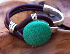 Leather and silver cuff bracelet $40.00 by Lindy's Designs