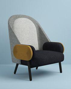Charles Kalpaklan Moon armchair, Galerie BSL