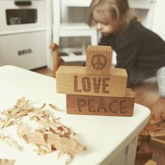 Peace&Love ❤️   #woodenstory #peaceandloveblocks #onmymindblocks #woodenblocks #woodentoy #ecotoy #greentoy #ecocertified #ecobaby #handcrafted #FSCcertified #beskidymountains #poland #ahojhome photo by www.scandinavianhomee.blogspot.com