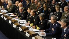 """Military Leaders: Sexual Assault """"Like a Cancer"""" Joint Chiefs Chairman Gen. Martin Dempsey, testifies on Capitol Hill in Washington on June 4, 2013, before the Senate Armed Services Committee hearing on pending legislation regarding sexual assaults in the military."""