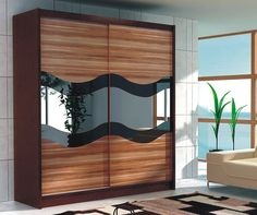 Wardrobe Dimensions: Width: 180 cm Height: 200 cm Depth: 61 cm Colour: Wenge + plum + mirror + black glass Made of high quality MDF board and PVC Single Door Wardrobe, Corner Wardrobe, Wardrobe Sale, White Wardrobe, Small Wardrobe, Wardrobe Storage, Wardrobe Furniture, Wardrobe Cabinets, Bedroom Wardrobe