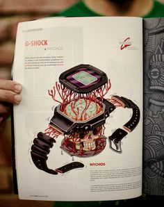 """Publications at the GraffitiArt Magazine """"RIME Issue"""" (Paris)  Illustration for GSHOCK"""