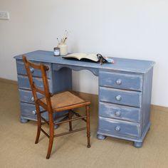 Vintage Painted Pine Dressing Table