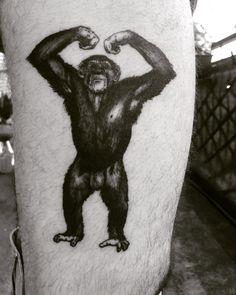 Tatouage singe en réaliste