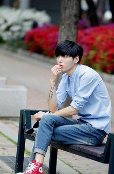 58 ภาพนายแบบเกาหลี Go Sanggil หล่อ ตัวสูง ดัดฟัน ผ.ในอุดมคติ รูปที่ 33