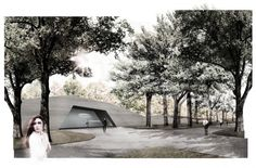 Beautiful museum design created for a design competition in Poland. Utilizes diffused natural daylighting very well.