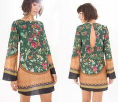 vestido curto jardim delicado | FARM