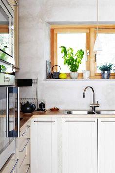 Betonowa kuchnia w skandynawskiej kuchni