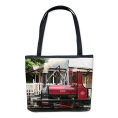 Red Steam train engine locomotive, Wale Bucket Bag on CafePress.com