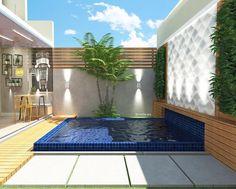 Piscina Backyard Pool Designs, Small Backyard Gardens, Swimming Pools Backyard, Swimming Pool Designs, Backyard Landscaping, Outside Living, Outdoor Living, Home Design Floor Plans, Modern Pools