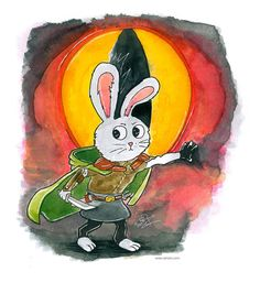 There and Back Rabbit Hobbit by rain-ant.deviantart.com on @DeviantArt  #hobbit #rabbit #adventure #dragon #eye #sword #exploring #cloak #humanrabbit #rain-ant #rainant #the-art-of-rain-ant #watercolor #watercolors #ink #painting #ink-watercolor #leather #armor